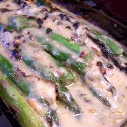 Spicy and Sweet Cheesy Asparagus