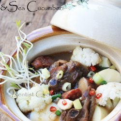 Chicken With Cucumbers and Mushrooms