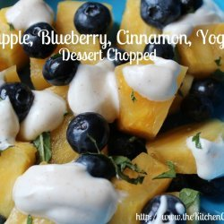 Pineapple yogurt dessert