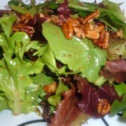 Mixed Greens with Walnut and Roasted Onion Dressing