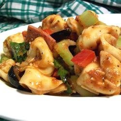 Tortellini Salad with Grilled Tomato Vinaigrette