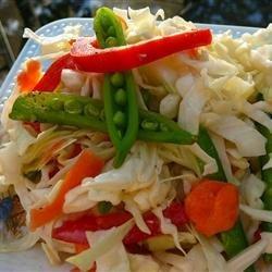 Snow Pea and Napa Cabbage Slaw recipe
