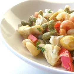 Tri-Colored Pasta with Feta Cheese