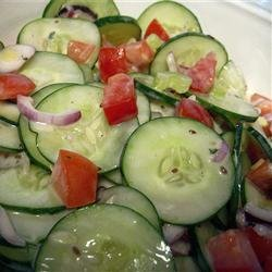 Dilled Cucumber, Tomato and Celery Salad