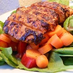 Indian-Style Grilled Chicken Salad recipe