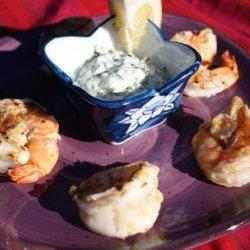 Spicy Lemon Shrimp With Basil Mayonnaise