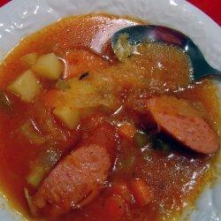 Kielbasa and Sauerkraut Soup (Borsch, Borscht)