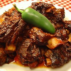 Crock Pot Short Ribs in Ancho Chile Sauce
