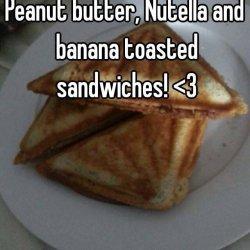 Toasted Peanut Butter & Nutella Sandwich