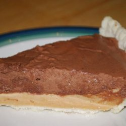 Peanut Butter and Chocolate Mousse Pie