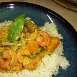 Prawn and Pumpkin Coconut Milk Curry - Konju Pulungari
