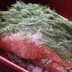 Gravlax (Swedish Sugar and Salt Cured Salmon)