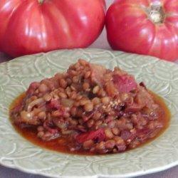 Turkish Eggplant (Aubergine) Lentil Stew