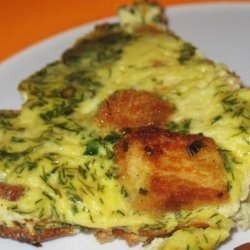 Golden Onion and Dill Frittata