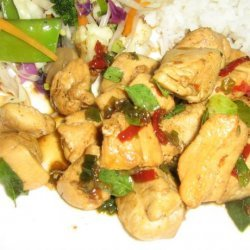 Chicken Stir fry with Chili and Basil