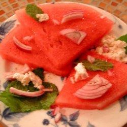 Watermelon & Feta Salad With Ouzo Dressing