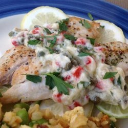 Grilled Fish With a Lemon-Caper Sauce