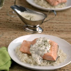 Poached Salmon with Caper Sauce