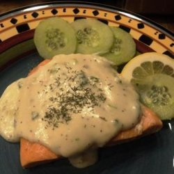 Simply Elegant Salmon in Champagne Sauce With Fresh Dill recipe