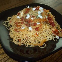 Angel Hair Pasta With Sun-Dried Tomatoes & Goat Cheese