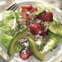 Herbed Romaine Salad With Strawberries and Feta recipe