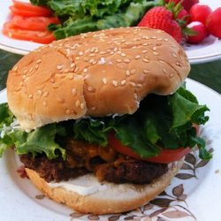 Barbecued Cheddar Burgers