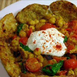 Chickpea Stew With Crispy Pita Wedges