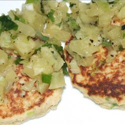 Green Onion Crab Cakes With Pineapple Salsa