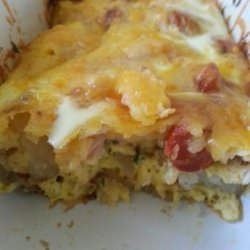 Easy Sausage, Potato, Cheese Breakfast Casserole