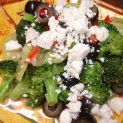 Broccoli Salad With Black Olives and Feta Cheese