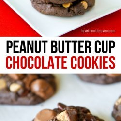 Chocolate Peanut-Butter-Cup Cookies