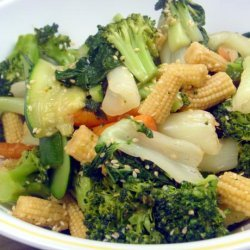 Steamed Vegetables With Honey Sesame Dressing