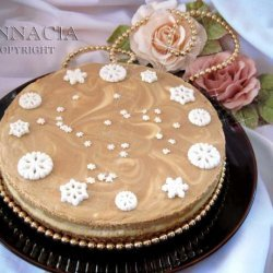Almond Coffee Cheesecake for Anna