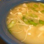 Miso Soup With Enoki Mushrooms