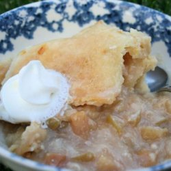 Tropical Fruit and Apple Cobbler-Crock Pot!