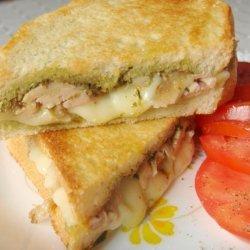 Pesto and Mozzarella Sandwiches recipe