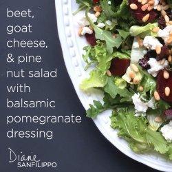 Balsamic Goat Cheese Salad Dressing