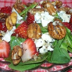 Everyone's Favorite Spinach Salad with Poppy Seed Dressing recipe