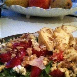 Arugula Persimmon Pear Salad