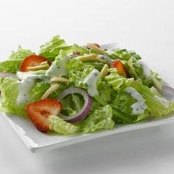 Strawberry Romaine Salad and Creamy Poppy Seed Dressing with Truvia(R) Natural Sweetener