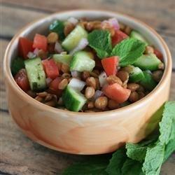 Lentil Salad with a Persian Twist