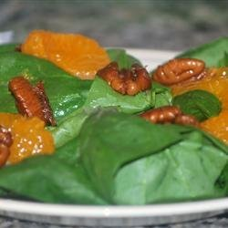 Spicy Mandarin Spinach Salad recipe