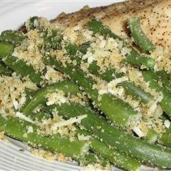 Green Beans with Bread Crumbs