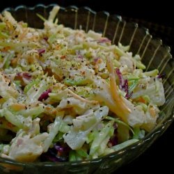 Broccoli Slaw With Turkey Bacon and Water Chestnuts
