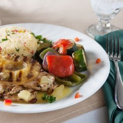 Grilled Roasted Vegetables With Pineapples