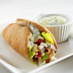 Greek Chicken Wrap With Herb Yogurt Sauce