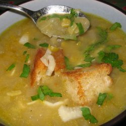Herbed split pea soup