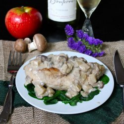 Chicken and Apples in Cream