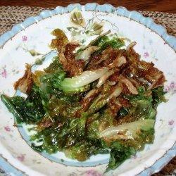 Flash Fried Spinach (Or Escarole) recipe