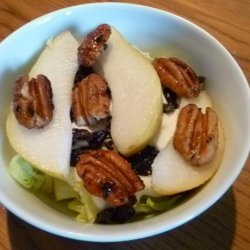 Pear & Walnut Salad W/Creamy Bleu (Blue) Cheese Dressing